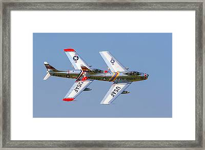 Tight Formation Framed Print by Allan Levin