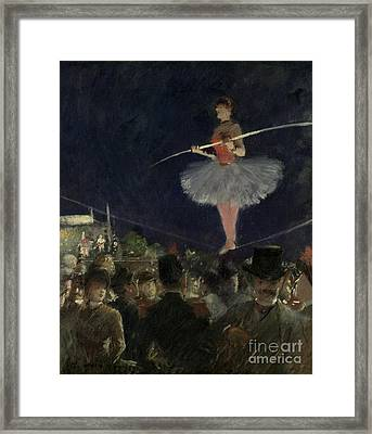 Tightrope Walker Framed Print by Jean Louis Forain