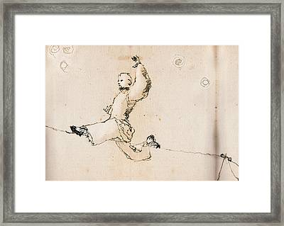 Tightwire Framed Print