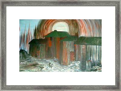 Framed Print featuring the painting Tijuana Backstreets by Sherri  Of Palm Springs