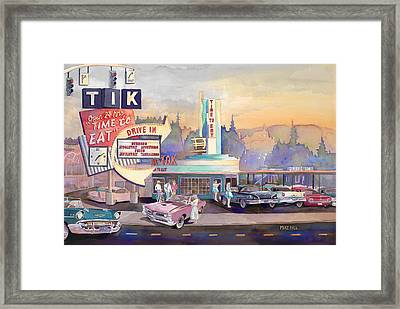 Tik Tok Drive-inn Framed Print by Mike Hill
