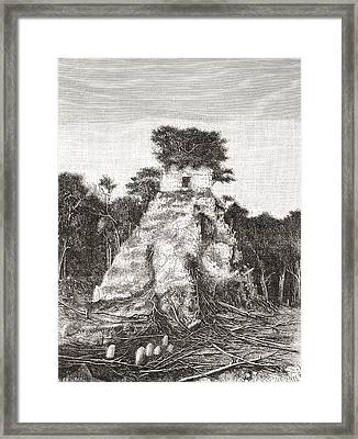Tikal, Guatemala, Central America. The Framed Print by Vintage Design Pics