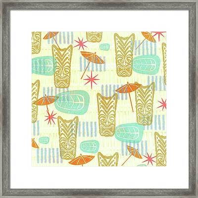 Tiki Beach Framed Print