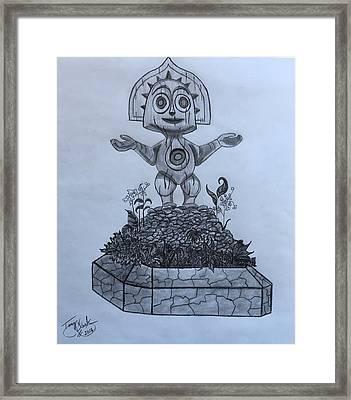 Tiki God Framed Print by Tony Clark