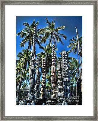 Tiki Gods Framed Print