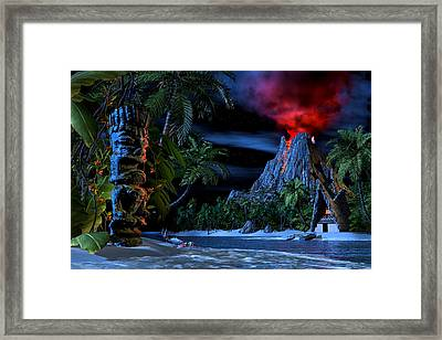 Tiki Jungle Framed Print