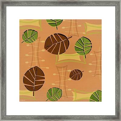 Tiki Lounge Wallpaper Pattern Framed Print by Little Bunny Sunshine