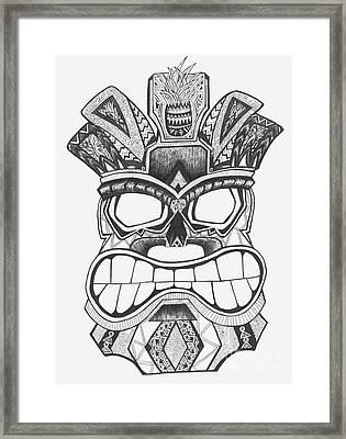Tiki Soul Framed Print by Michael Miller