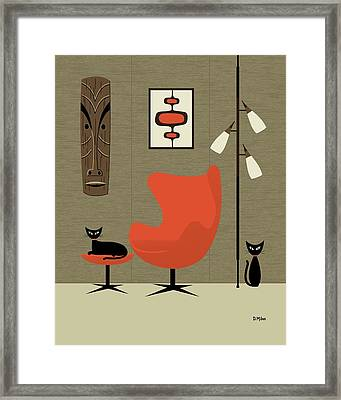 Tiki On The Wall Framed Print