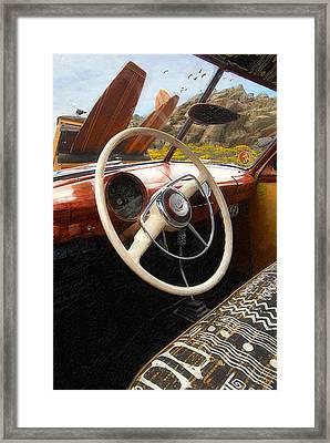 Tiki Woodie Framed Print