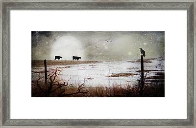 'til The Cows Come Home Framed Print by Theresa Tahara
