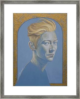 Tilda Swinton Framed Print