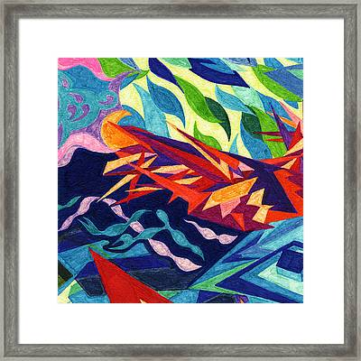 Tile 22 - The Great September Gale Framed Print by Sean Corcoran