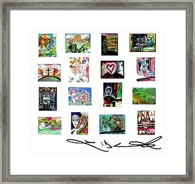 Tile Signature Series Framed Print by Levi Glassrock