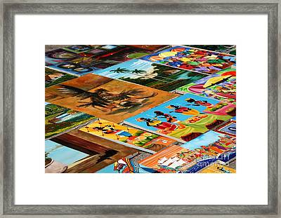 Tiled Canvasses Framed Print by Andy Smy