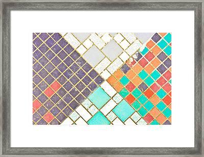 Tiled Surface Framed Print by Tom Gowanlock