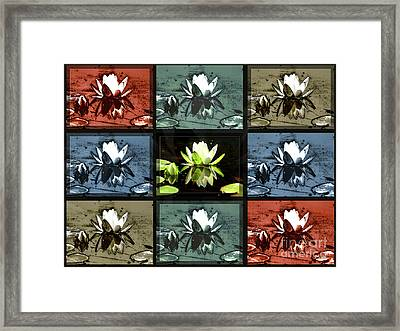 Tiled Water Lillies Framed Print