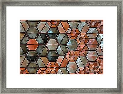 Framed Print featuring the painting Tiles Abstract by Edward Fielding