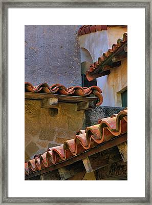 Tiles And Textures Framed Print by Steven Ainsworth