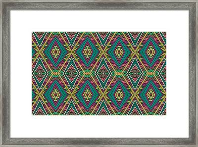 Tiles Framed Print by Modern Metro Patterns and Textiles