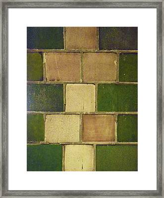 Tiles No. 35-1 Framed Print
