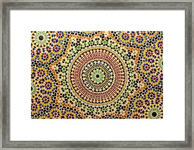 Framed Print featuring the photograph Tiles Of Fez by Ramona Johnston