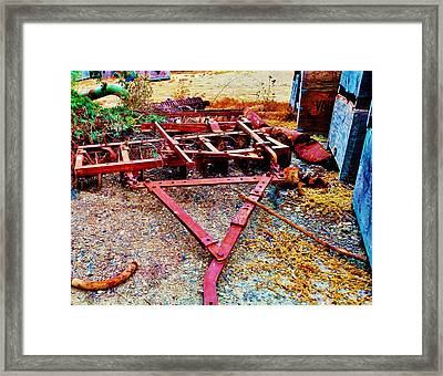 Tiller Pulley On Farm Framed Print