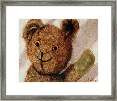 Tillie - Vintage Bear Painting Framed Print