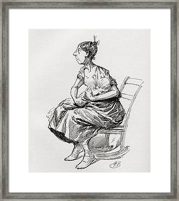 Tilly Slowboy. Illustration By Harry Framed Print by Vintage Design Pics