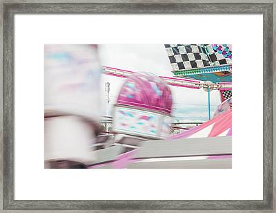 Tilt-a-whirl In Motion Framed Print