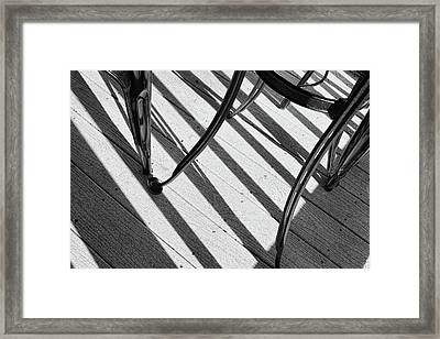 Framed Print featuring the photograph Tilt Black And White Photography by Ann Powell