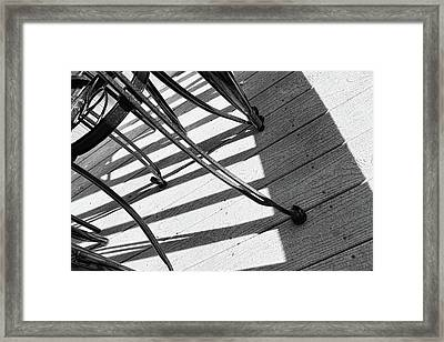 Tilt Two Black And White Photograph Framed Print by Ann Powell