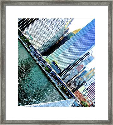 Tilted Buildings 1 Framed Print