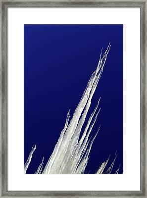 Tilted Ice Framed Print