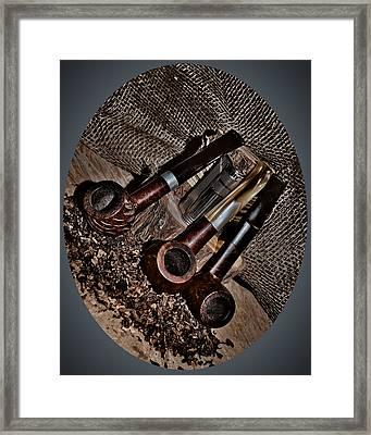 Tilted Pipes Framed Print