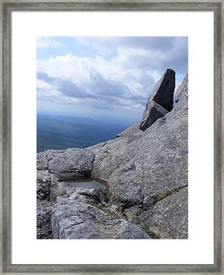 Tilted Rock Framed Print by Alison Heckard