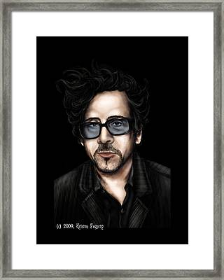 Tim Burton Framed Print by Kristen Fogarty