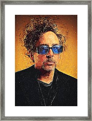 Tim Burton Framed Print by Taylan Apukovska