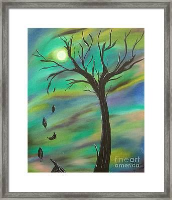 Tim Burton Tree Framed Print by Sesha Lee