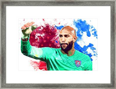 Tim Howard Framed Print by Semih Yurdabak