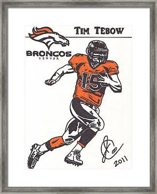 Tim Tebow 1 Framed Print