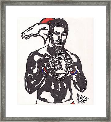 Tim Tebow 2 Framed Print by Jeremiah Colley