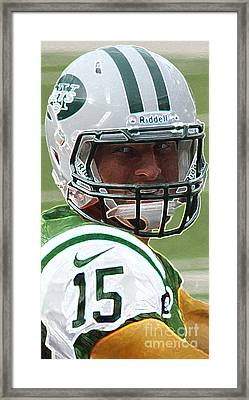 Tim Tebow Art Deco - New York Jets -  Framed Print by Lee Dos Santos
