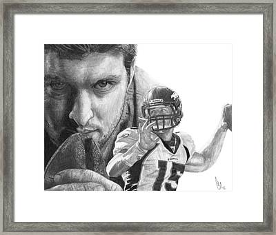Tim Tebow Framed Print by Bobby Shaw