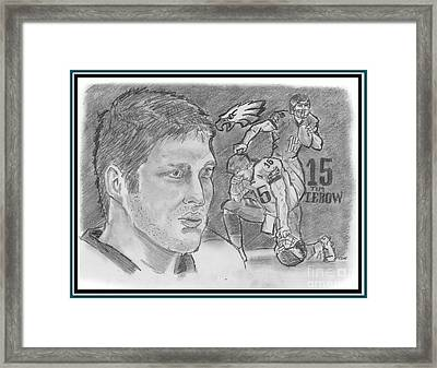 Tim Tebow Framed Print by Chris  DelVecchio