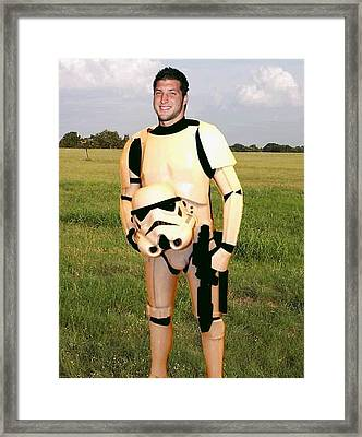 Tim Tebow Stormtrooper Framed Print by Paul Van Scott