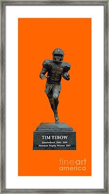 Tim Tebow Transparent For Customization Framed Print by D Hackett