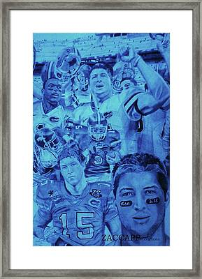 Tim Tebow Framed Print by Zachary  Capodici