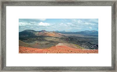 Timanfaya Panorama Framed Print by Delphimages Photo Creations