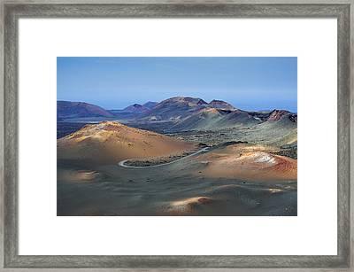 Timanfayas National Park Framed Print by Claudio Bergero